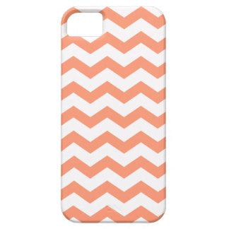 Rayas coralinas del zigzag de Chevron iPhone 5 Protector