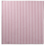 Rayas - cordón rosado y Puce Servilleta