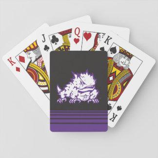 Rayas cristianas de la rana el | de la universidad cartas de póquer