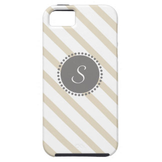 Rayas cruzadas con el monograma geométrico iPhone 5 Case-Mate carcasa