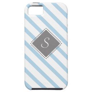 Rayas cruzadas con el monograma geométrico iPhone 5 Case-Mate carcasas