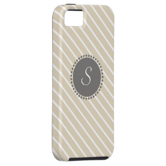 Rayas cruzadas con el monograma geométrico iPhone 5 carcasas
