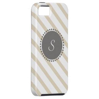 Rayas cruzadas con el monograma geométrico iPhone 5 Case-Mate protector