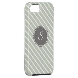 Rayas cruzadas con el monograma geométrico iPhone 5 cárcasas