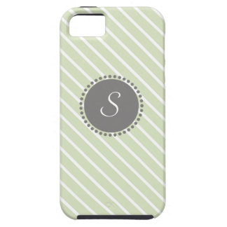 Rayas cruzadas con el monograma geométrico iPhone 5 Case-Mate cobertura