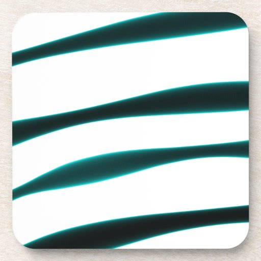 Rayas curvadas azules y negras abstractas posavasos de bebidas