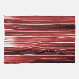Rayas curvadas rojo toallas de mano
