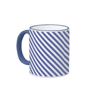 Rayas de azules claros tazas de café