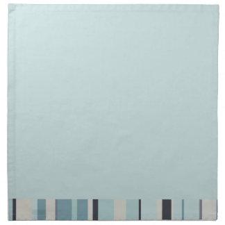 Rayas de azules heladas del azul y del invierno servilleta imprimida
