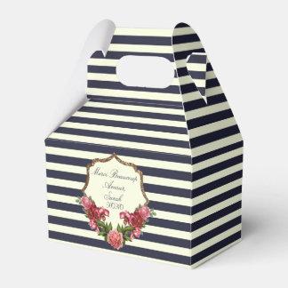 Rayas de azules marinos de los rosas y cajas del cajas para regalos de fiestas