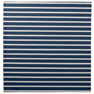 Rayas de azules marinos náuticas servilletas de papel