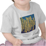 Rayas de bambú camisetas