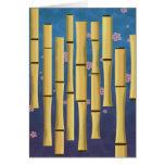 Rayas de bambú felicitaciones