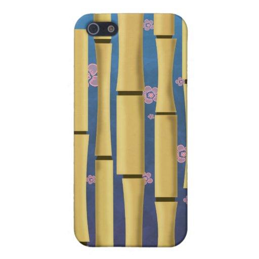 Rayas de bambú iPhone 5 carcasas
