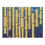 Rayas de bambú tarjetas postales