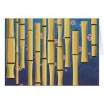 Rayas de bambú tarjetón