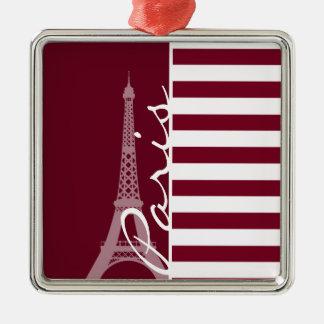 Rayas de Borgoña; Torre Eiffel Adornos De Navidad