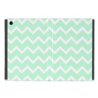 Rayas de Chevron del zigzag de la verde menta iPad Mini Carcasas