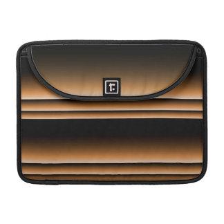 Rayas de cobre de bronce metálicas de Brown Ombre Fundas Para Macbooks
