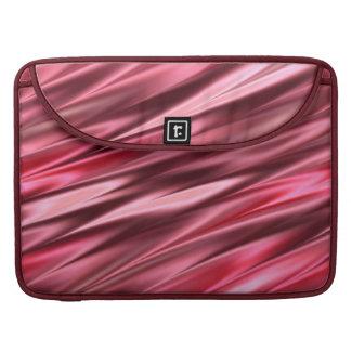 Rayas de color rosa oscuro que fluyen fundas macbook pro