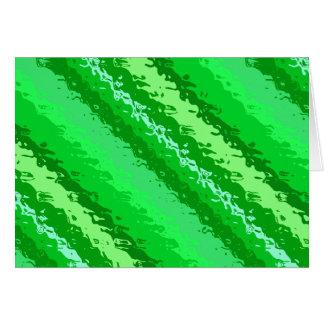 Rayas de cristal - sombras del verde esmeralda tarjeta pequeña