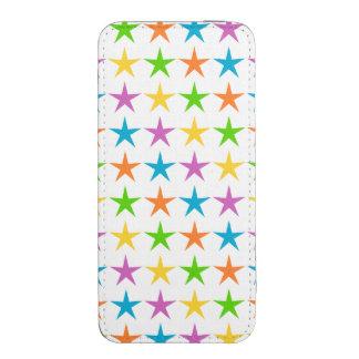 Rayas de estrellas funda acolchada para iPhone