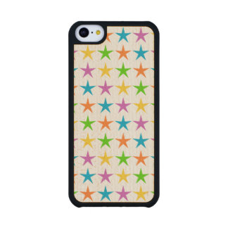 Rayas de estrellas funda de iPhone 5C slim arce