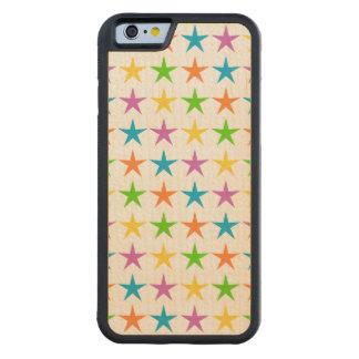 Rayas de estrellas funda de iPhone 6 bumper arce