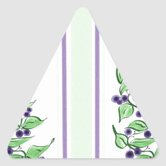 Rayas de Huckelberry Pegatina Triangular