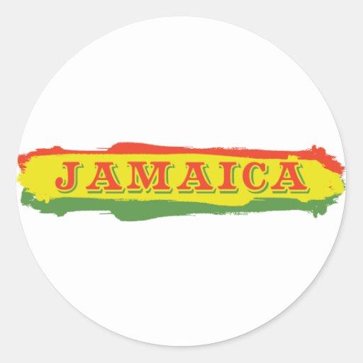 Rayas de Jamaica Pegatina Redonda