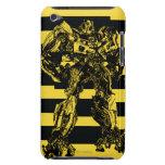 Rayas de la abeja del abejorro iPod touch Case-Mate protector
