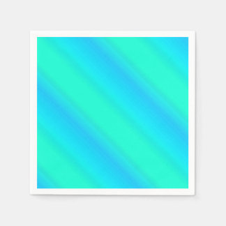 Rayas de la aurora - azul, aguamarina, turquesa servilleta desechable