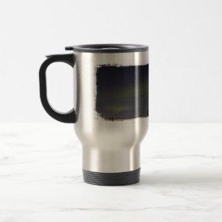 Rayas de la aurora boreal tazas de café