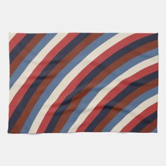 Rayas de la bandera americana del vintage toallas de mano