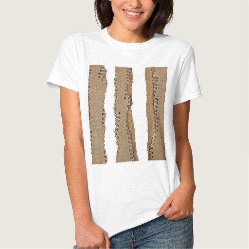 Rayas de la cartulina acanalada tshirt
