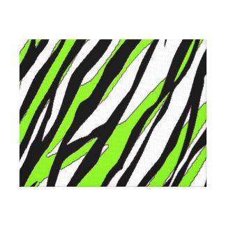 Rayas de la cebra con las rayas abstractas de la v impresión de lienzo