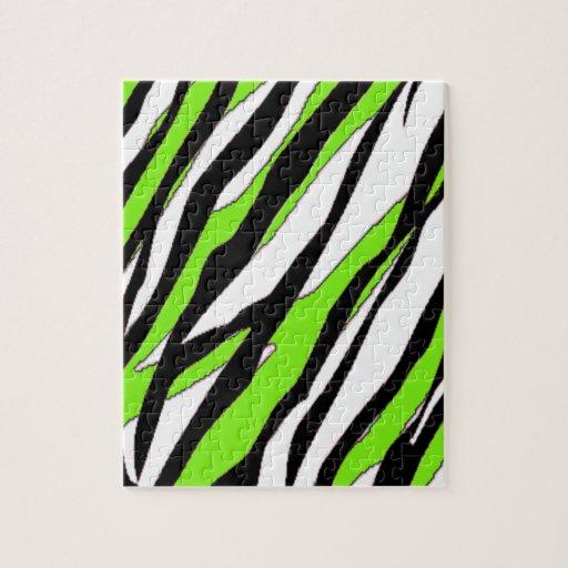Rayas de la cebra con las rayas abstractas de la v puzzles