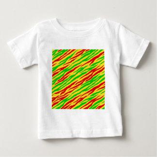 Rayas de la cebra de Rasta Tshirt