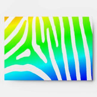 Rayas de la cebra del arco iris sobre