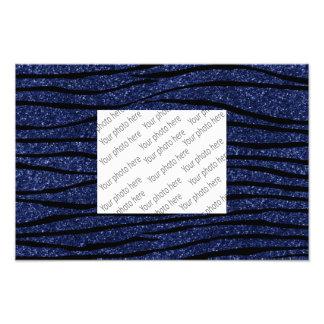 Rayas de la cebra del brillo de los azules marinos fotografías