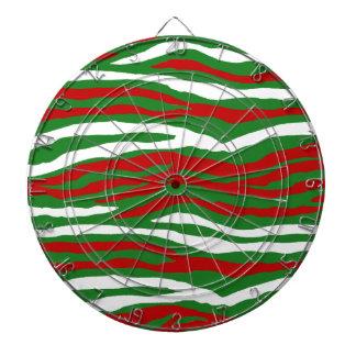 Rayas de la cebra del navidad tablero dardos