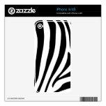 Rayas de la cebra en diseño blanco y negro del mod skins para eliPhone 4S