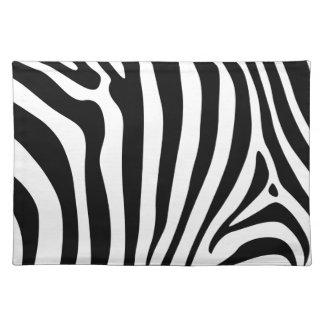 Rayas de la cebra en diseño blanco y negro del mod manteles individuales