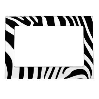 Rayas de la cebra en diseño blanco y negro del mod marcos magneticos para fotos