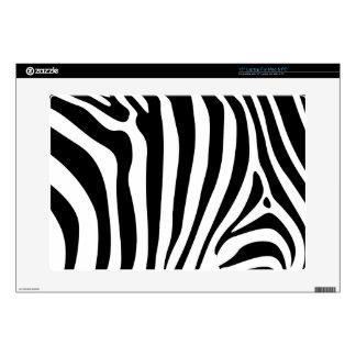Rayas de la cebra en diseño blanco y negro del mod skins para 38,1cm portátiles