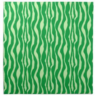 Rayas de la cebra - sombras de la verde lima servilletas