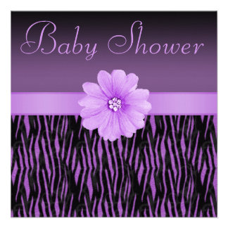 Rayas de la cebra y fiesta de bienvenida al bebé invitaciones personalizada