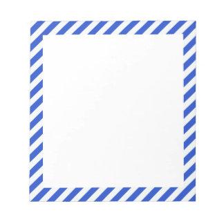 Rayas de la combinación del azul real blocs de papel