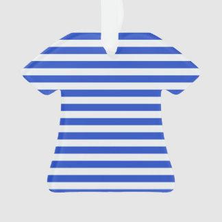 Rayas de la combinación del azul real de Shirley