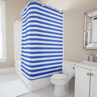 Rayas de la combinación del azul real de Shirley Cortina De Baño